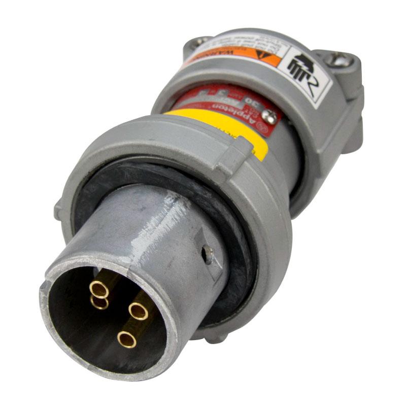 ENCHUFE  TIPO CLAVIJA, 3W 4P,  30A 600VAC 250VDC, NEMA 4X